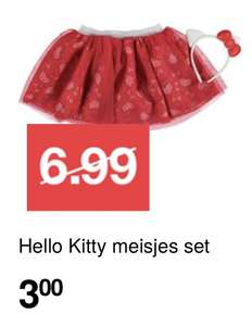Hello Kitty meisjesset (maat 92-128)  €3 @ Zeeman