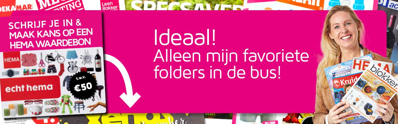 Gratis NEE-sticker + Kies je eigen reclamefolders + Kans op HEMA Waardebon t.w.v. € 50,-