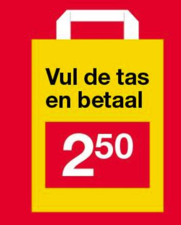 Zeeman: zak vol voor €2,50 [Nederland & België]