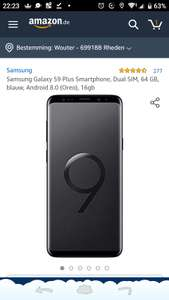 Prijsfout? Samsung S9+ 64gb Amazon.de €303