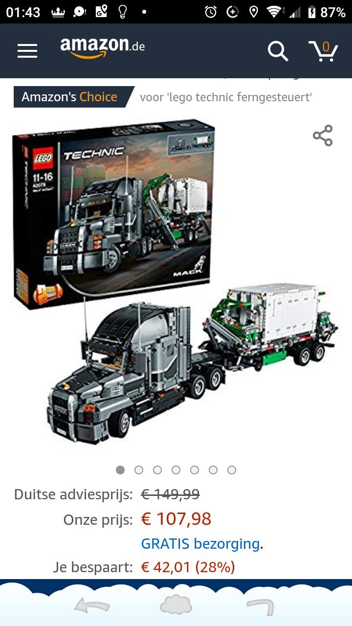 Lego tecnic 42078 MACK Anthem truck primedeal.