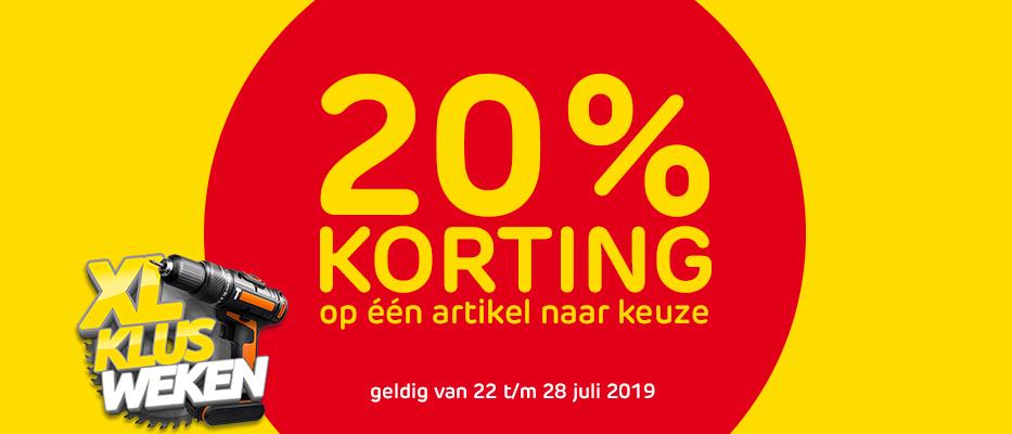20% Korting bij Praxis + Gratis Bezorging