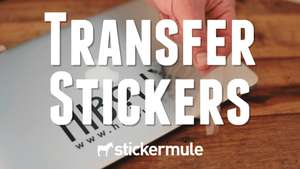 Sticker Mule: 10 transfer stickers + gratis vezending