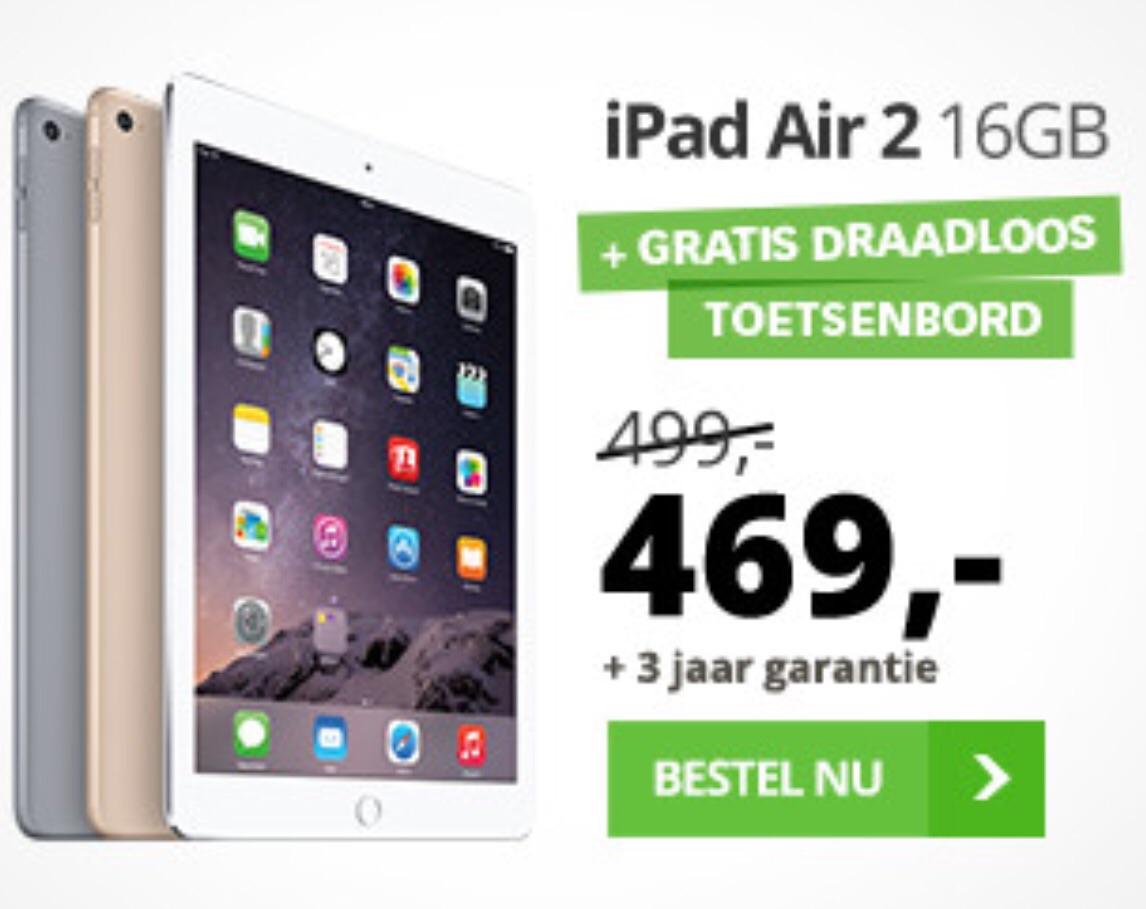 Bij dixons krijg je bij iedere iPad Air 1 en 2 een gratis Bluetooth keyboard