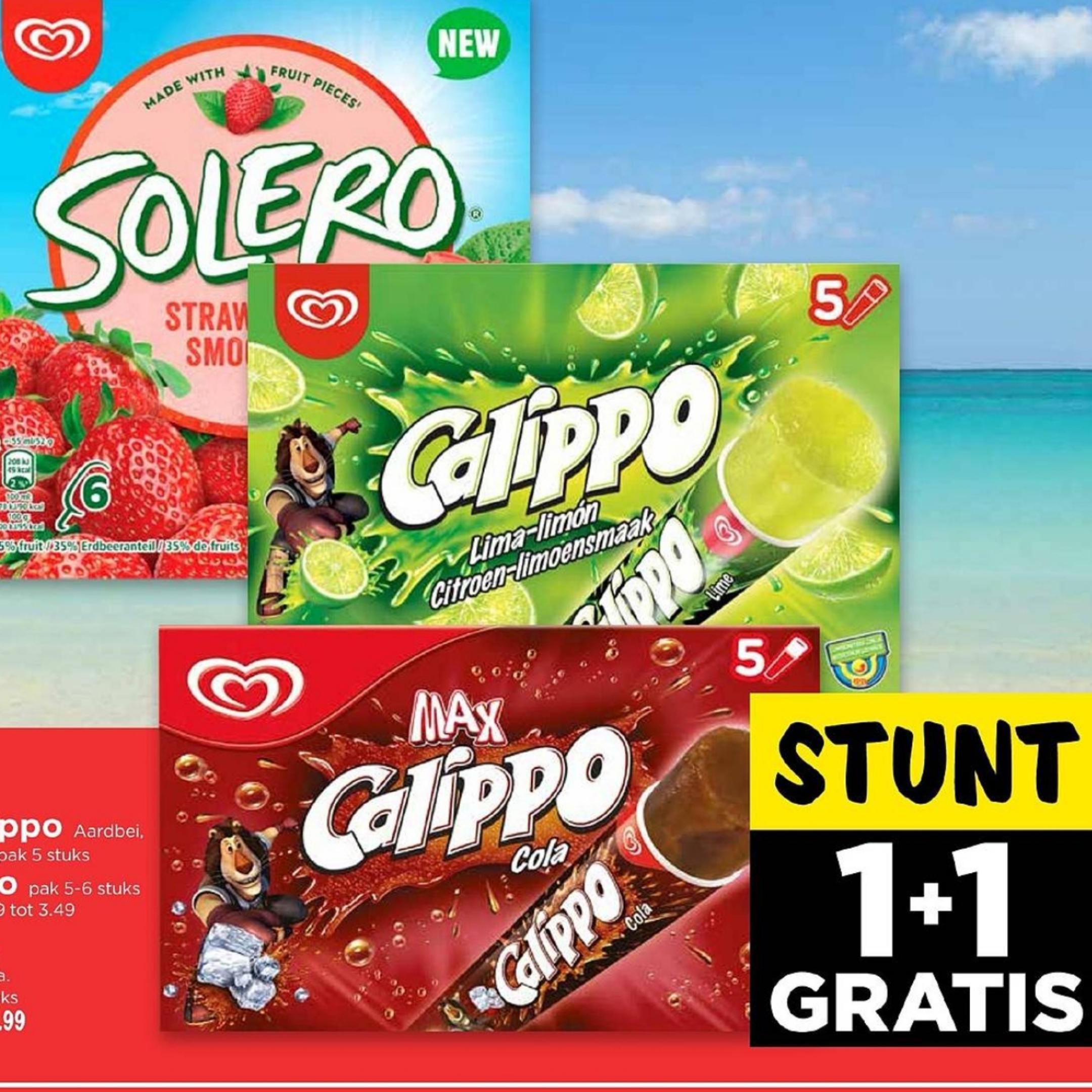 (1+1 gratis) op Ola Calippo of Solero @Vomar