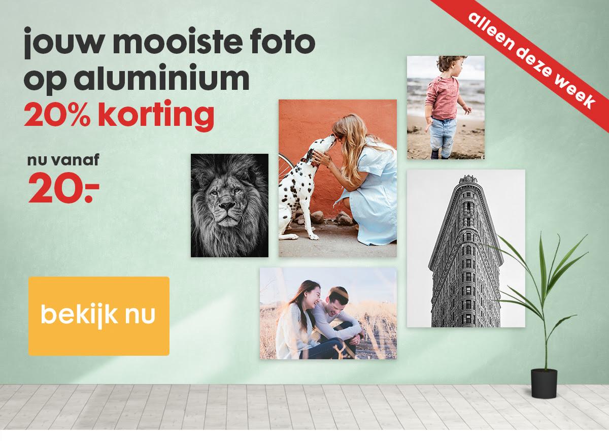 Alleen deze week: 20% korting op aluminium wanddecoratie @ HEMA