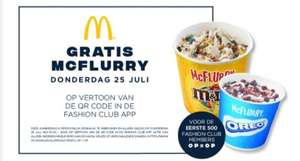 Gratis McFlurry Bataviastad Fashion Outlet
