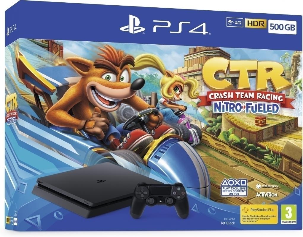 PS4 Slim 500GB + Crash Team Racing Nitro-Fueled + Extra Controller V2 @ Nedgame