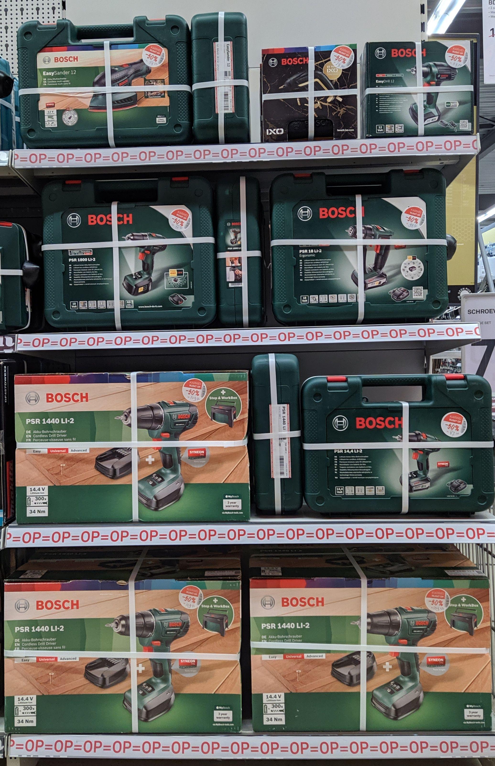 Lokaal - Bosch gereedschap 50% korting Karwei Doetinchem