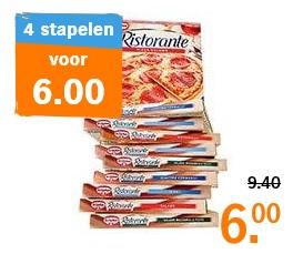 AH: 4 Dr. Oetker Ristorante pizza's voor €6