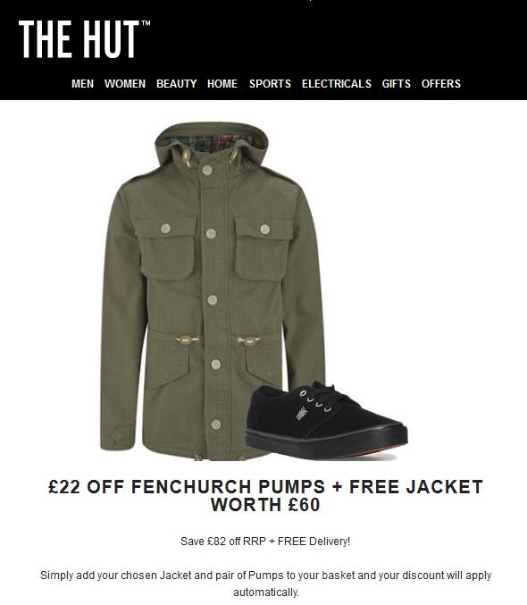 Gratis Brave Soul jas t.w.v. €85,25 bij aankoop van Fenchurch schoenen voor €39,75 @ The Hut