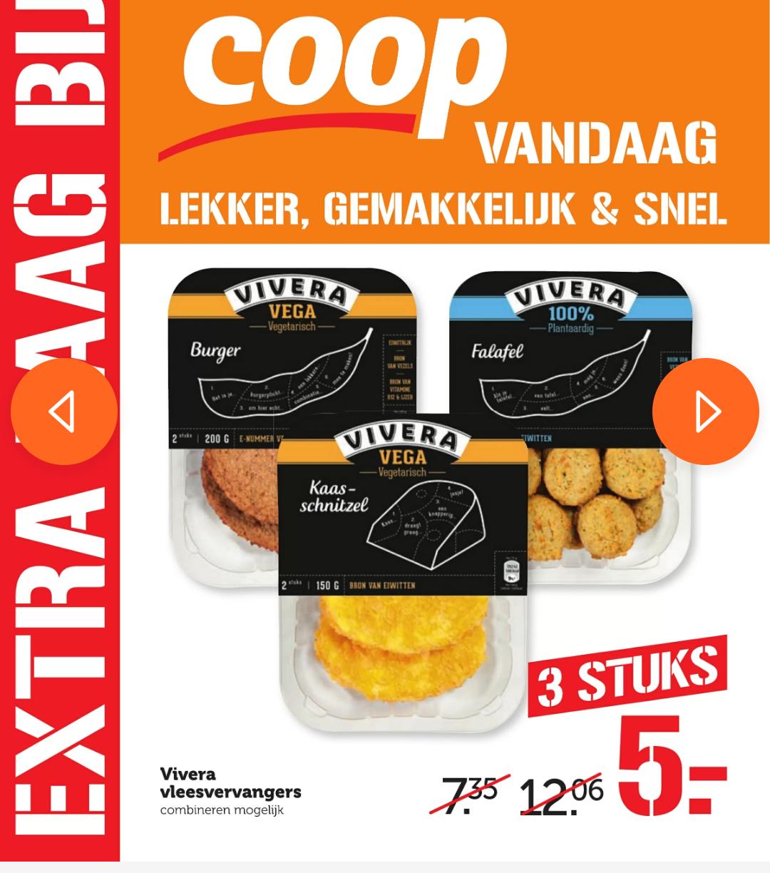 Vivera 3 voor €5 bij Coop