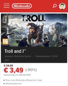 -90% op troll and I voor Nintendo switch