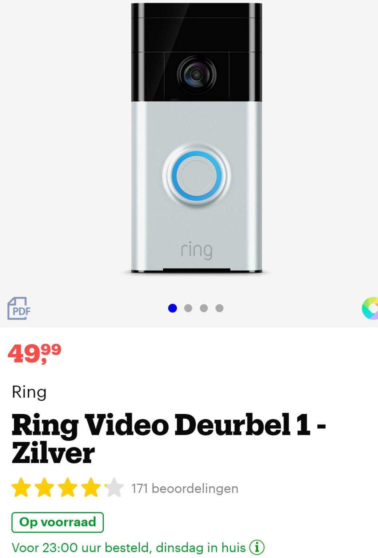 Ring videodeurbel 1 @bol.com