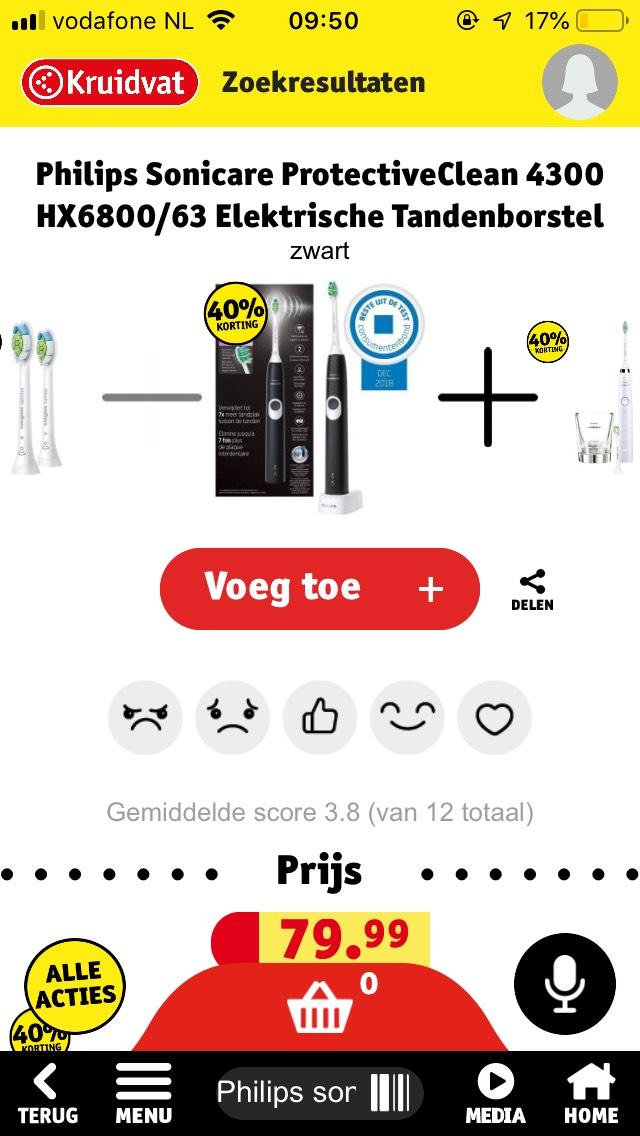 40% korting op elektrische tandenborstels van Philips