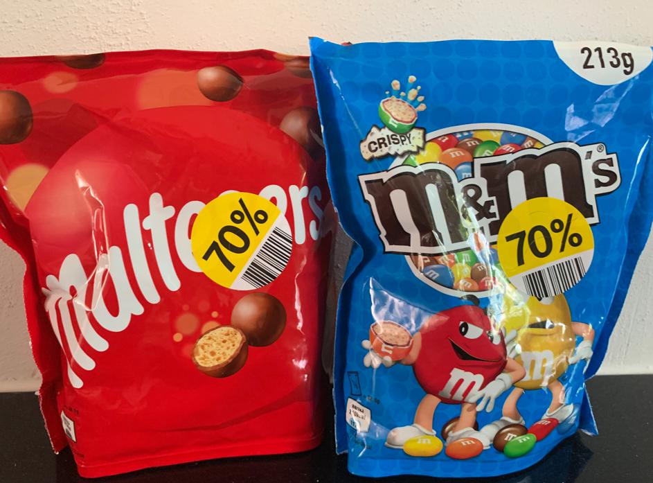 M&M's en Maltesers (192.5-213 gram)