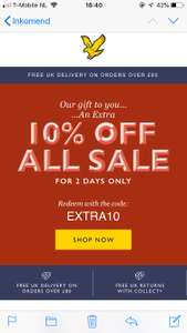 10% extra korting sale Lyle and Scott