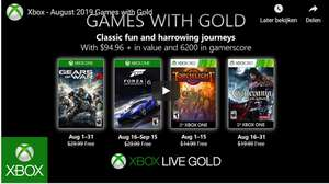 Games with gold August (XBOX): FM6 - GOW4 - Torchlight - Castlevania