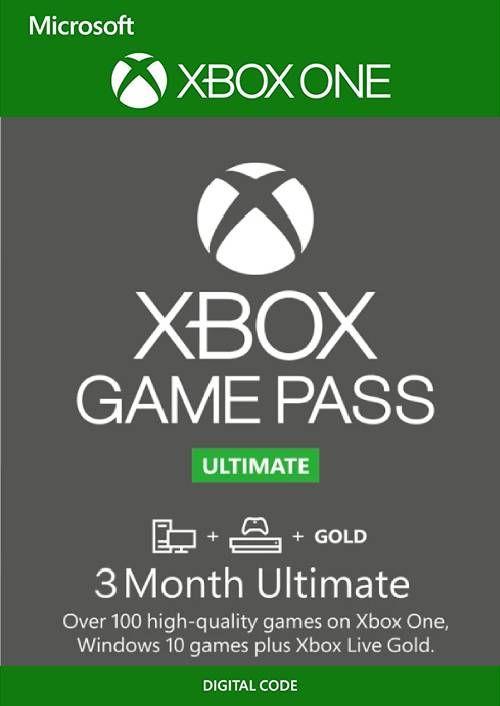 3 maand Xbox Game Pass Ultimate Xbox One / PC @Cdkeys.com