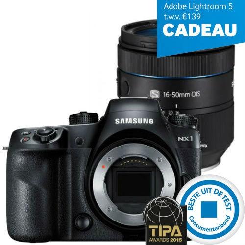 Samsung NX1 + 16-50mm F2-2.8 S ED OIS + Gratis Adobe Lightroom 5 voor €1619,10 @ Foka