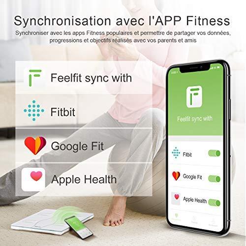 Gepersonaliseerde weegschaal, iTeknic, Bluetooth Elektronische digitale weegschaal Gewicht en spiermassa, vet, spiermassa.