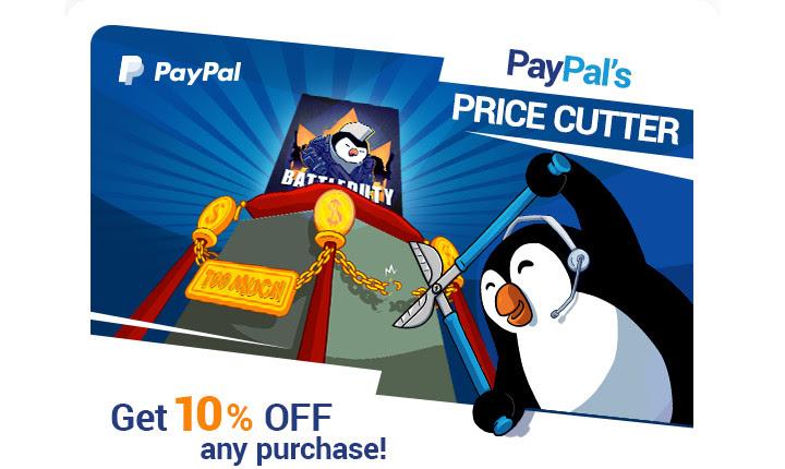 10% korting op alles door betalen met PayPal @  Kinguin