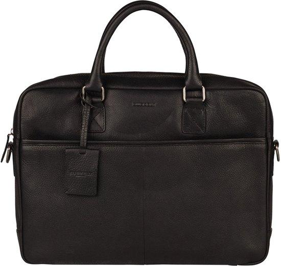 Leren Burkely Antique Avery Laptoptas Zwart -54% |  Unisex