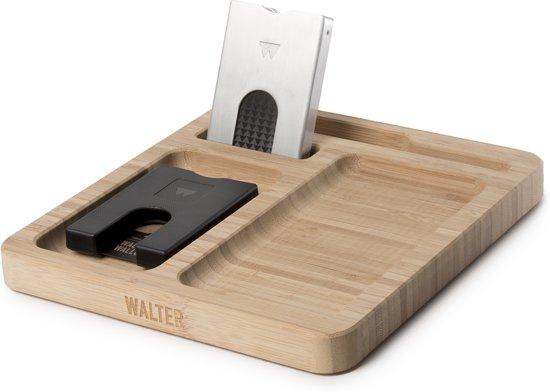 Walter Wallet Giftset Bamboo Dock + 2x Creditcardhouder - Black/Aluminium RAW