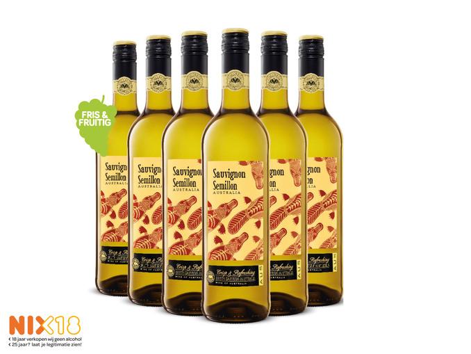 Australische Sauvignon Semillon 6 flessen:)