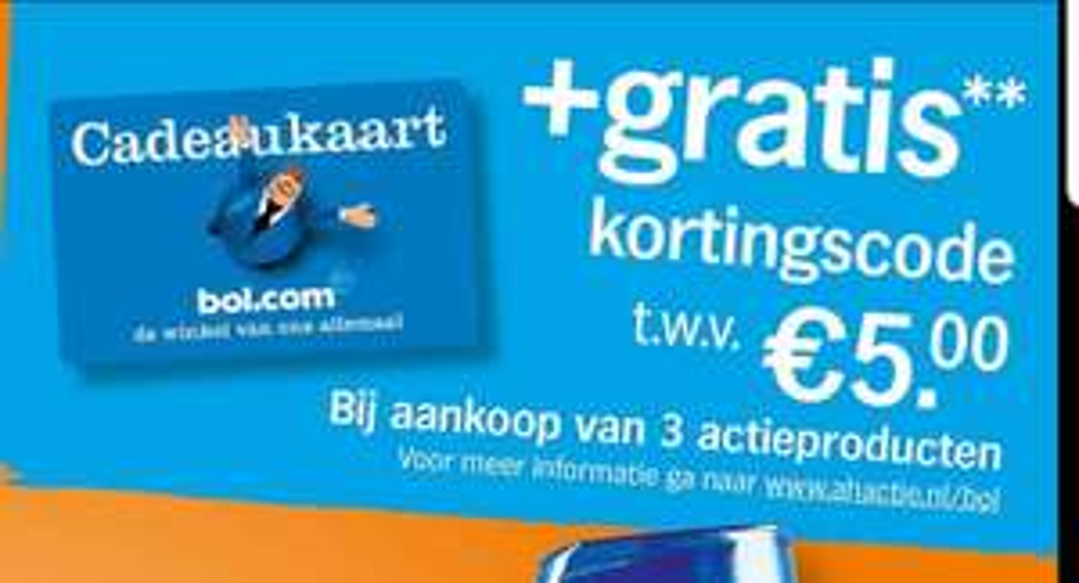 Gratis 5 euro bol.com cadeaukaart. (+bonusboekje)