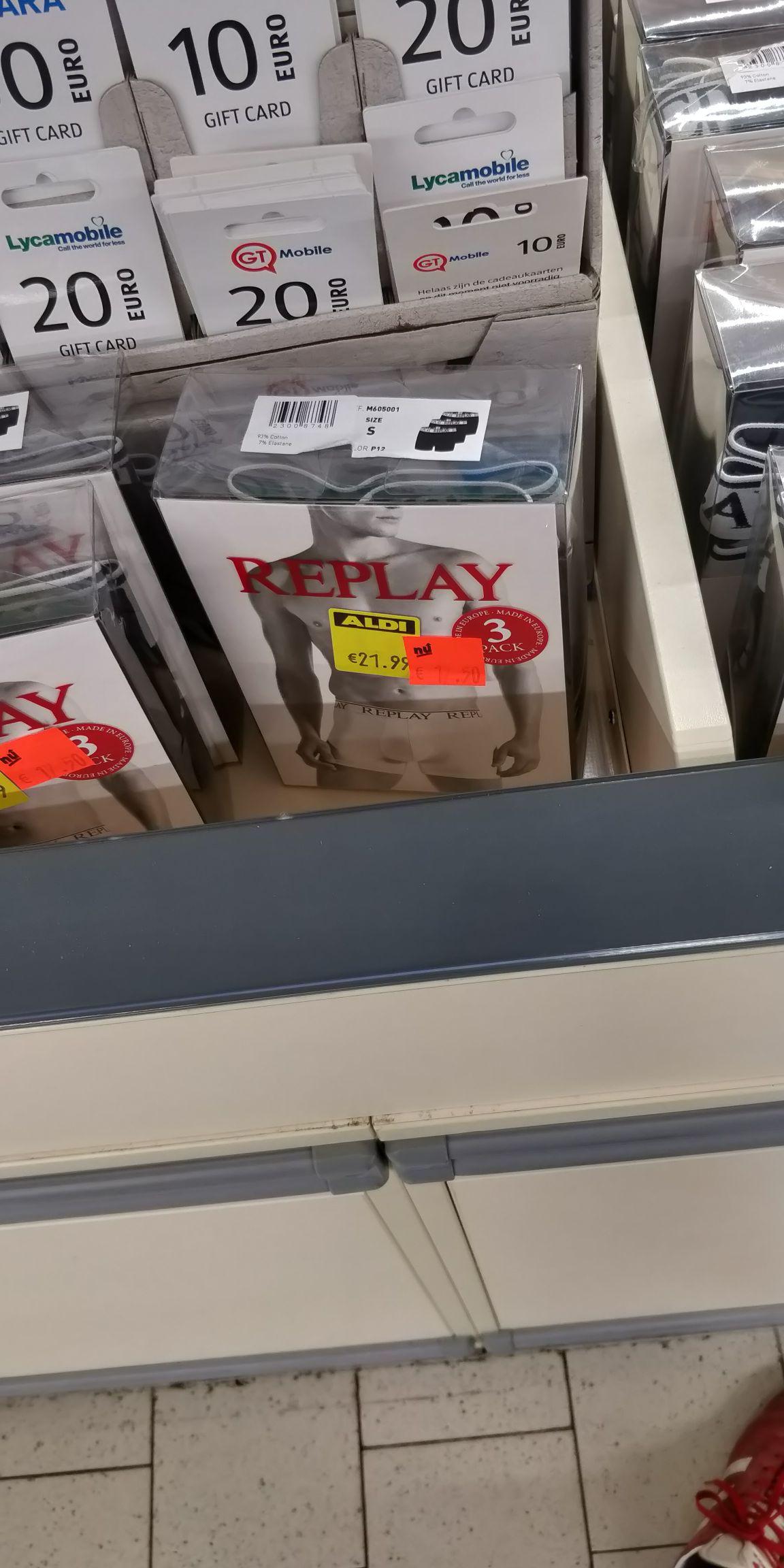 3-pack Replay Boxershorts  €17,50 bij Aldi (diverse kleuren en maten) Lokaal ?