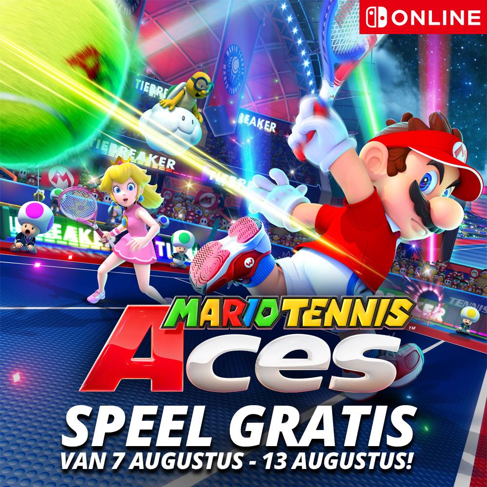 Mario Tennis Aces gratis speelbaar voor Nintendo Switch Online Leden van 7 t/m 13 augustus