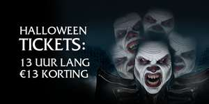 Walibi Fright Night €13 Euro korting