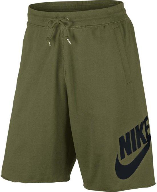 Nike NSW Short Ft Gx 1 Sportbroek Heren - Groen/Zwart - Maat M