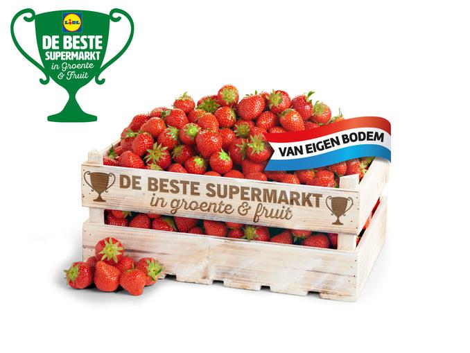 Hollandse aardbeien 500 gram voor 1,99€.