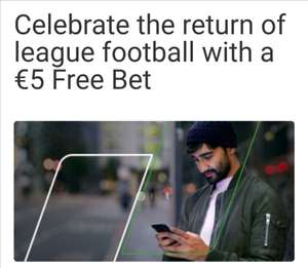 Unibet €5 free bet (bestaand account)