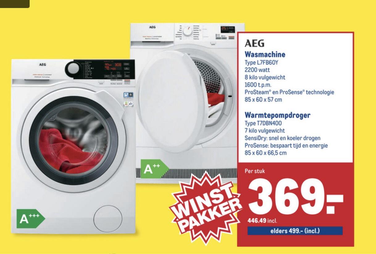 AEG wasmachine L7FB60Y 8kg @Makro