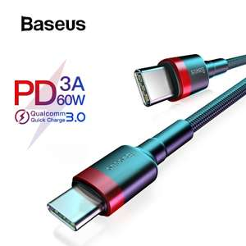 Baseus Gewoven USB-C Fast Charge Kabel 1 Meter Zwart 1,16 euro