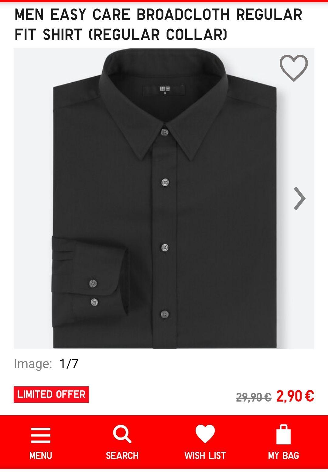 Uniqlo dress shirt, overhemd maat [S]