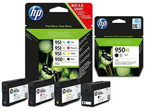 Tot €35 cashback op HP 950/951XL inkt cartridges