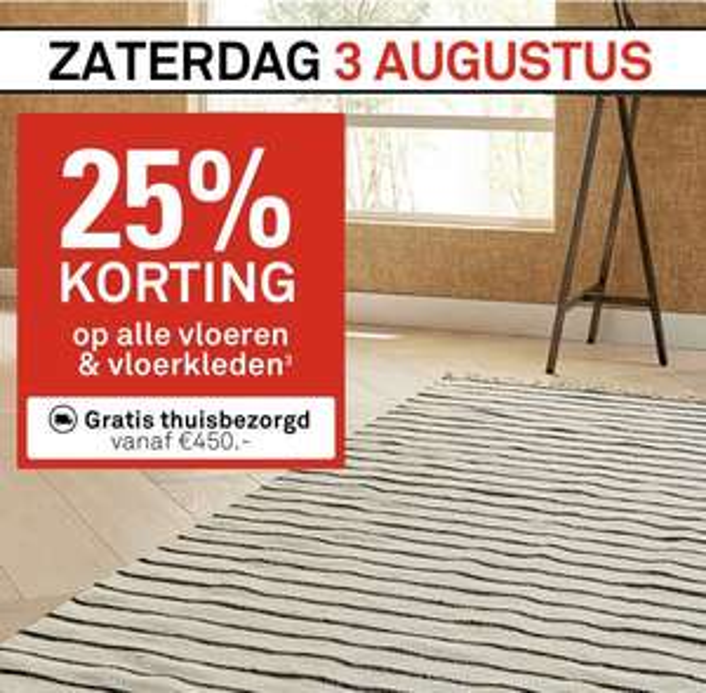 25% korting op alle vloeren & vloerkleden bij Karwei