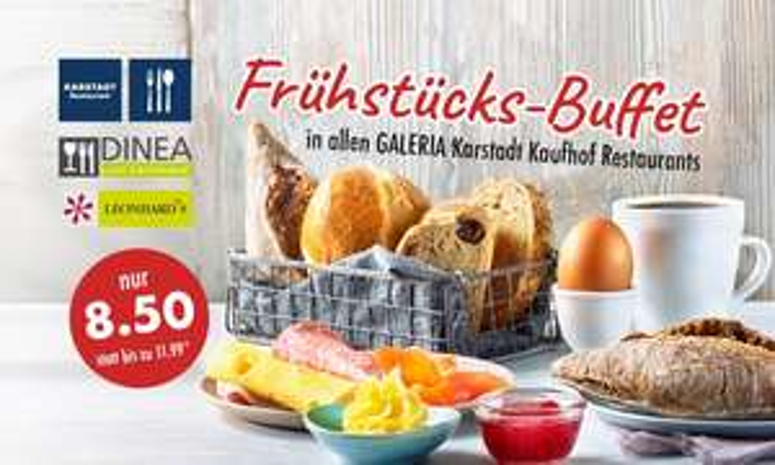 [Grensdeal] Ontbijtbuffet @galeria karstadt Kaufhof