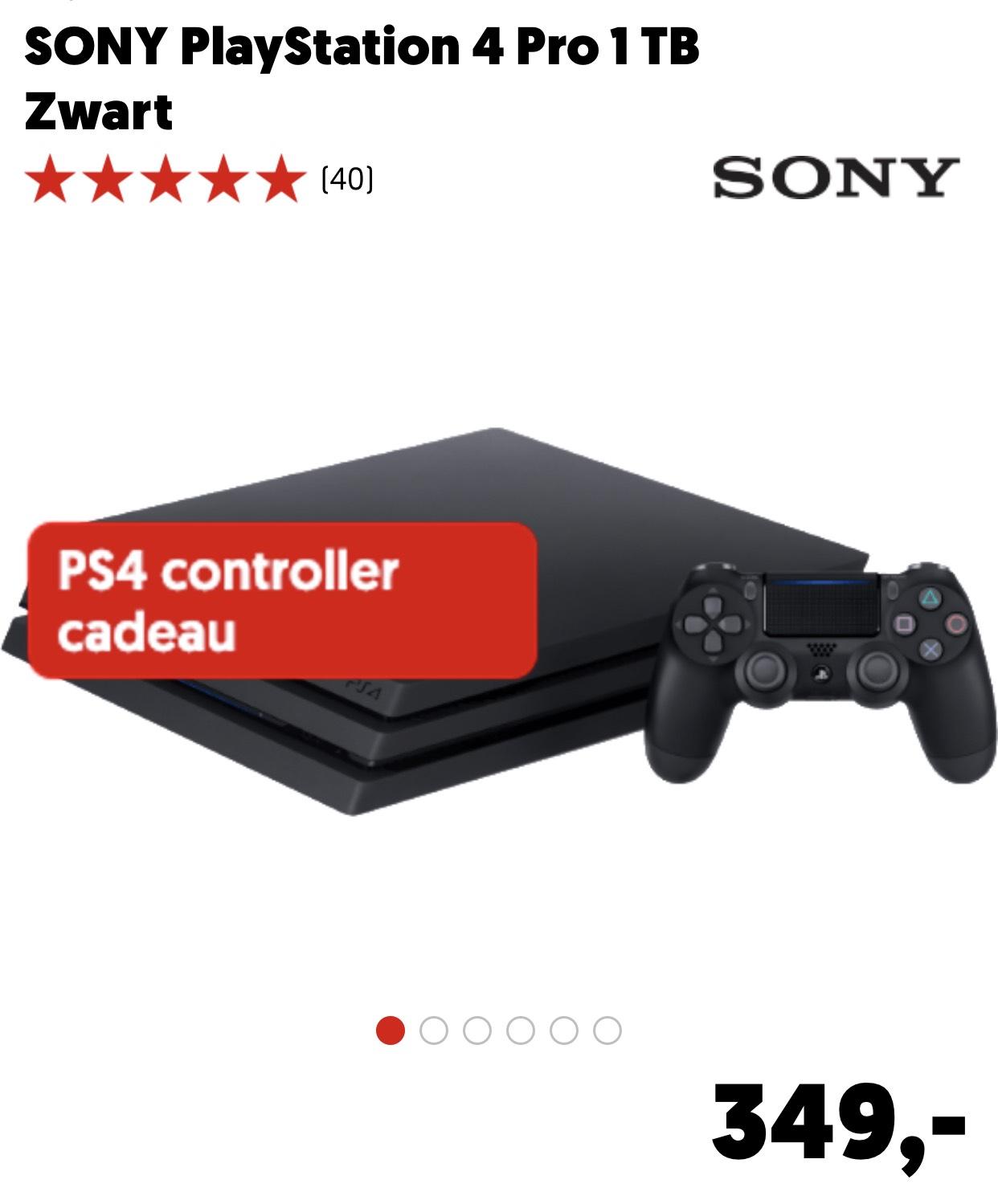 Krijg een 2e controller gratis bij aankoop van de PS4 Pro 1TB