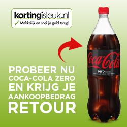 Gratis 1.5L fles Coca-Cola Zero of Cafeïnevrij 1.5L (geld terug) @ Korting is Leuk