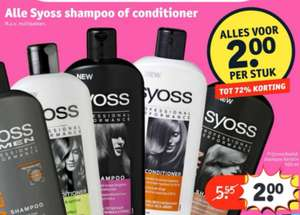 Alle Syoss shampoo & conditioner, nu €2,00 (tot 72% korting) | Kruidvat