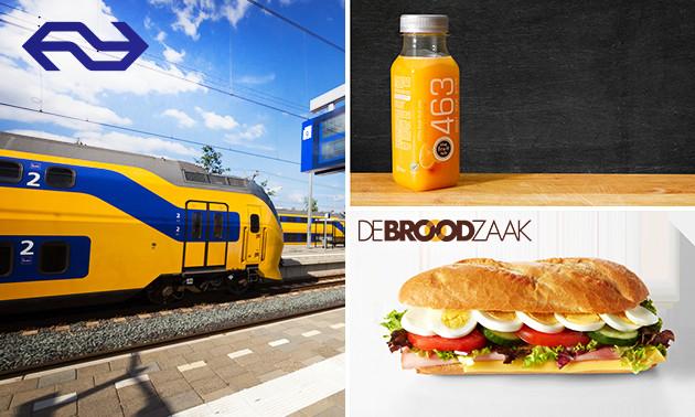 NS Dagretour + IJs of broodje en sap voor €19 @ Socialdeal / Spoordeelwinkel