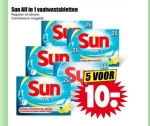 5x Sun all-in-one voor € 10,- @ Dirk en Deka. Slechts 8 cent per blokje