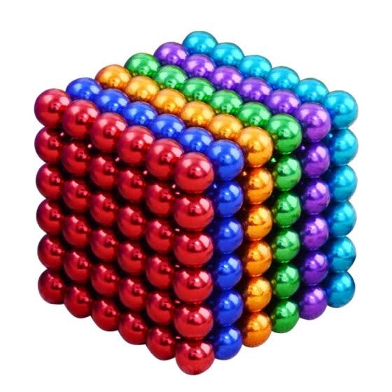 Neocube, Buckyballs Neocube Magneetballetjes - Multi color - 6 Kleuren - 216 60% korting