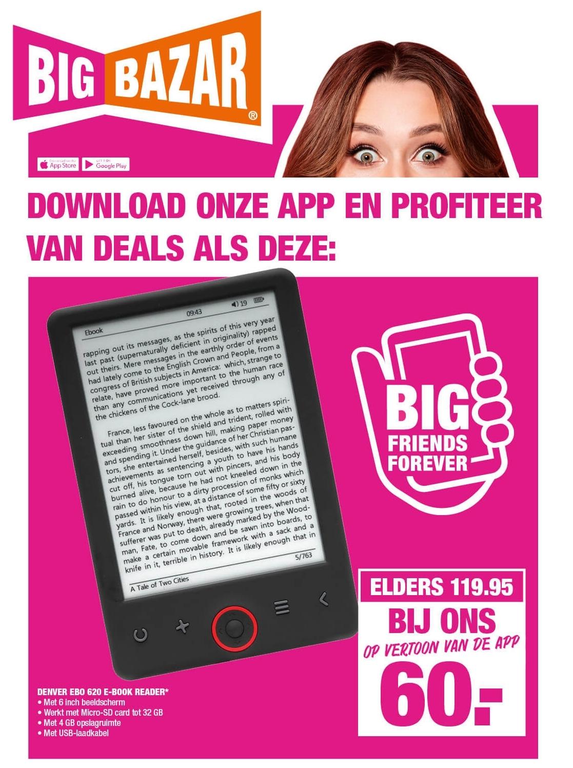 App Only Deal: Denver 6in e-Reader EBO-620