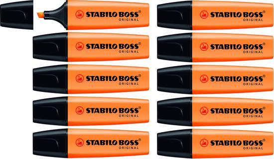 Stabilo BOSS Original Markeerstift Oranje - doos à 10 stuks @ Bol.com